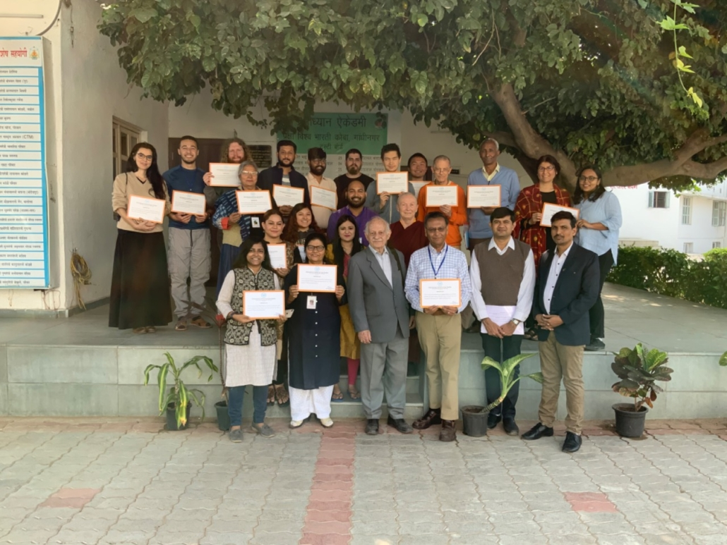 Group photo with Dr Kenneth Valpey at The International School of Jain Studies