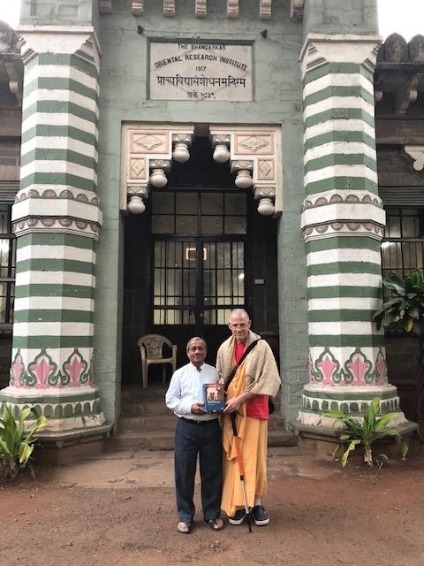 Dr Kenneth R Valpey with Srikant Bahulkar